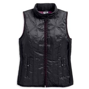 Harley Women's Lightweight Hooded Puffer Vest